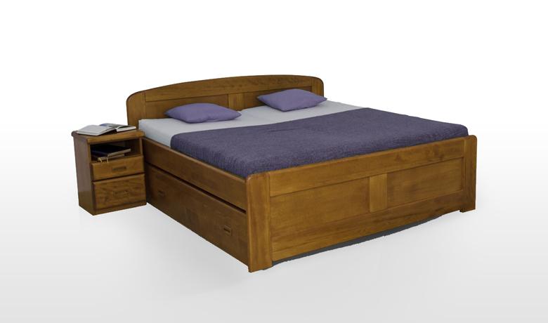 4054cba507cdb Posteľ SILVESTER je exkluzívna manželská posteľ z masívneho bukového alebo  dubového dreva v hrúbke 40 mm. Ide o výnimočný