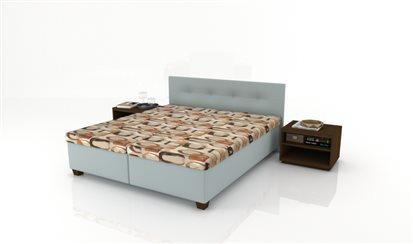 Manželská celočalúnená posteľ Carina