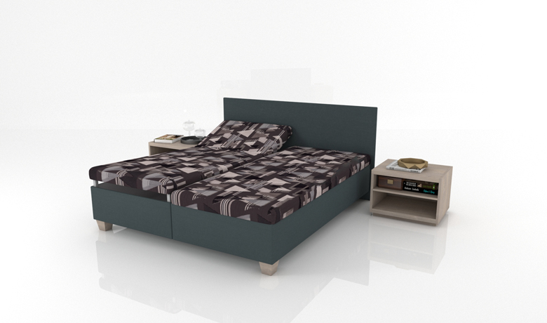 Čalúnená posteľ s úložným priestorom Dorado