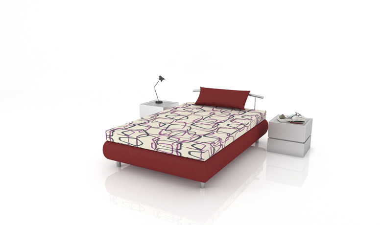 Štýlová posteľ s úložným priestorom Epsylon