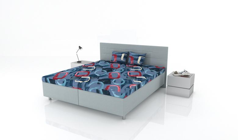Moderná celočalúnená posteľ Gemini