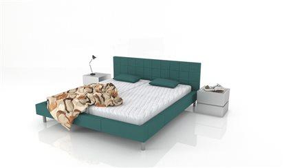 Luxusná posteľ s koženkou Inga
