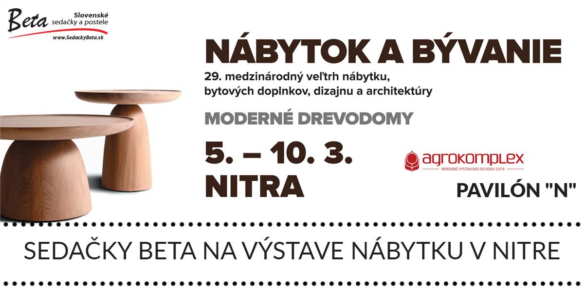 Sedačky Beta na výstave Nábytok a bývanie 2019 v Nitre