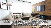 Miesto pre sedačku a televíziu v obývačke musíte vzájomne prispôsobiť