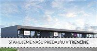 Od 1.októbra sťahujeme našu predajňu v Trenčíne do moderných priestorov v OC CUBE