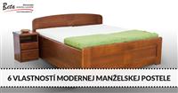 6 vlastností, ktoré by mala mať moderná manželská posteľ